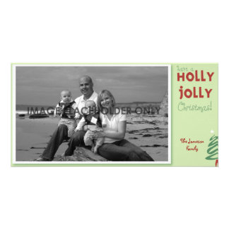 Holly Jolly Christmas Photo Card