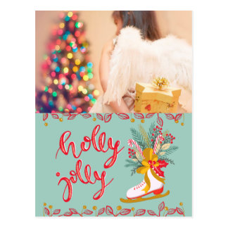 Holly Jolly Christmas postcard