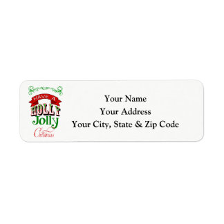 Holly Jolly Christmas Return Address Label