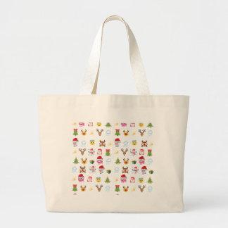 Holly Jolly Emojis carrying bag