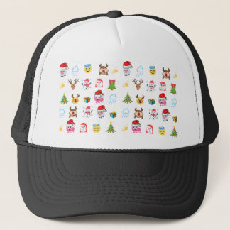 Holly Jolly Emojis hat
