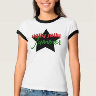 Holly Jolly Jammer, Roller Derby Skating Christmas T-Shirt
