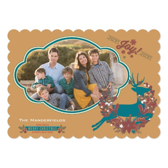 Holly Jolly Joy Christmas Holiday Photo Card