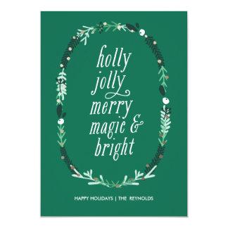 Holly Jolly Merry Magic & Bright Holiday Card