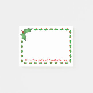 Holly Jolly Post-it Notes