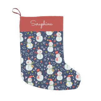 Holly Jolly Snowmen Personalized Stocking