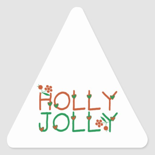 Holly Jolly Triangle Stickers
