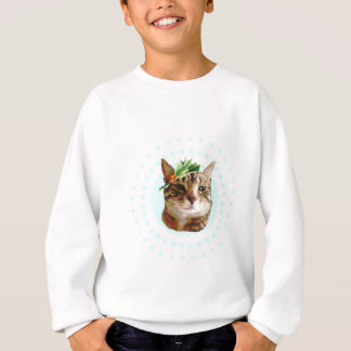 Holly Jolly Tabby Cat Christmas Sweatshirt