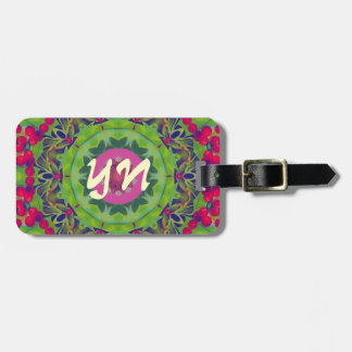 Holly Kaleidoscope luggage tag