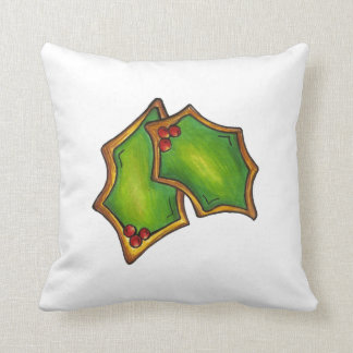 Holly Leaf Christmas Sugar Cookie Xmas Pillow