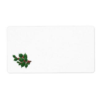 Holly Leaf Shipping Label