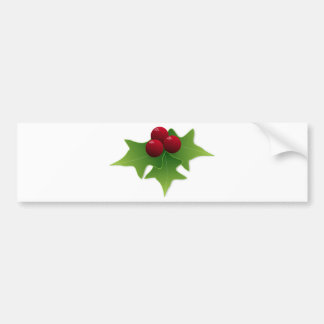Holly Leaf with Berries Bumper Sticker
