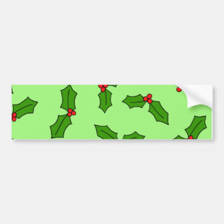 Holly Leaves Bumper Sticker