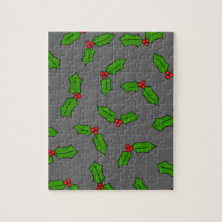 Holly Leaves Jigsaw Puzzle