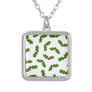 Holly Leaves Silver Plated Necklace