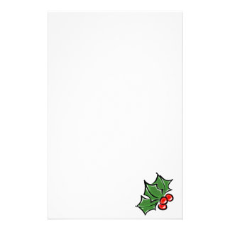 Holly leaves stationery