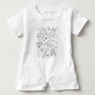 Holly Line Art Design Baby Romper