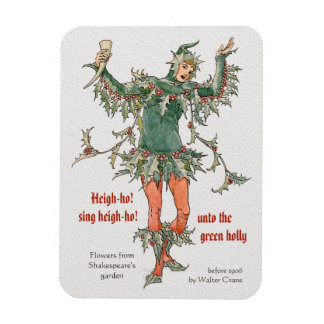 Holly man Walter Crane Flowers from Shakespeare Magnet