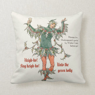 Holly man Walter Crane Flowers from Shakespeare Throw Pillow