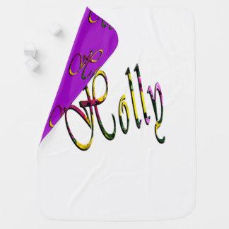Holly, Name, Logo, Desk Reversible Baby Blanket. Baby Blanket