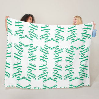 """Holly"" Personalized Fleece Blanket"