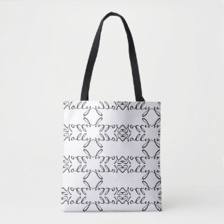 """Holly"" Personalized Tote Bag"