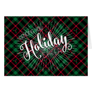 Holly Plaid l Sending you Holiday Cheer Card
