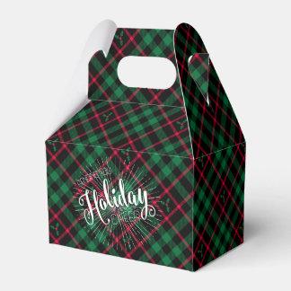 Holly Plaid l Sending you Holiday Cheer Favor Box