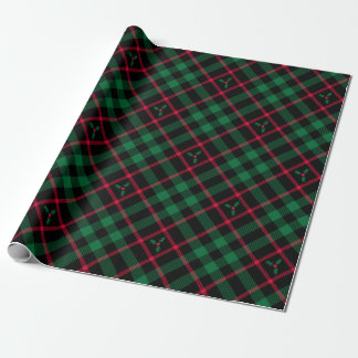 Holly Plaid Pattern Wrapping Paper