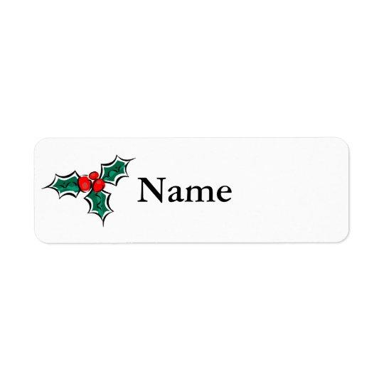 Holly Return Address Label