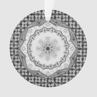 Holly & Snowflake Acrylic Circle Ornament