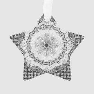 Holly & Snowflake Acrylic Star Ornament