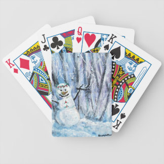 Holly Snowman Poker Deck