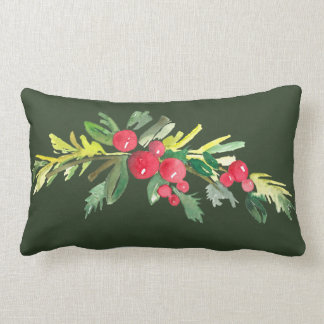 Holly Swag Throw Pillow