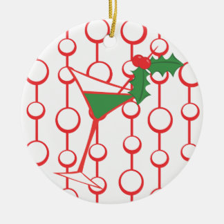 Holly-tini Ceramic Ornament