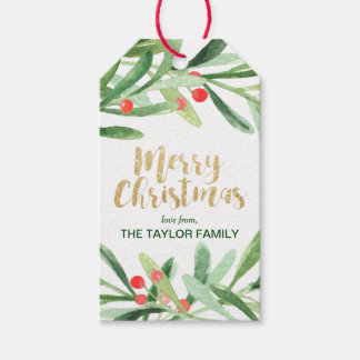 Holly Wreath Merry Christmas Pack Of Gift Tags