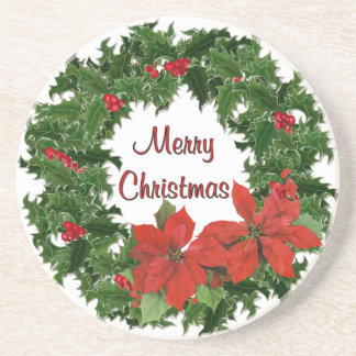 Holly Wreath Traditions Coaster