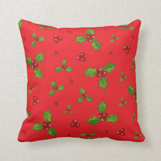 HollyBerry Throw Pillow