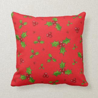 HollyBerry Throw Pillow