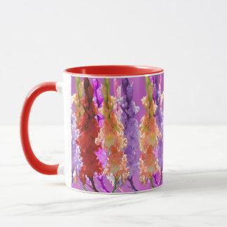 Hollyhock Blooms Of Elegance, Mug