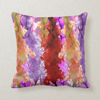 Hollyhock Blooms Of Elegance, Throw Pillow