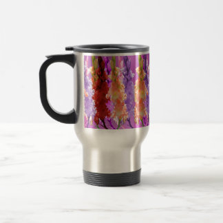 Hollyhock Blooms Of Elegance, Travel Mug
