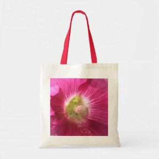 Hollyhock Deep Pink Tote Bag