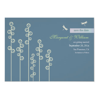 Hollyhock & Dragon Fly Save the Date Announcement