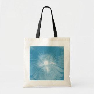 Hollyhock Flower Icy Blue Budget Tote bag