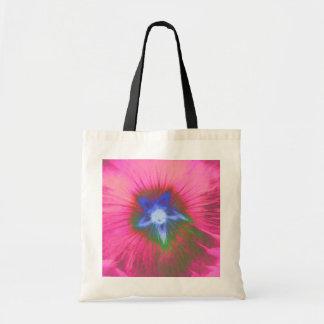 Hollyhock Flower Pink Velvet Budget Tote bag