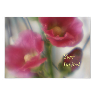 Hollyhock Flower Your Invited Invitation