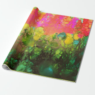 HollyHock Joy Wrapping Paper Decoupage