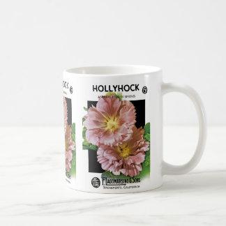 Hollyhock Vintage Seed Packet Coffee Mug
