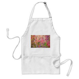 hollyhocks blooming standard apron